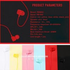 Remax RM-502 Écouteurs